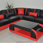 Red and Black Contemp sofa