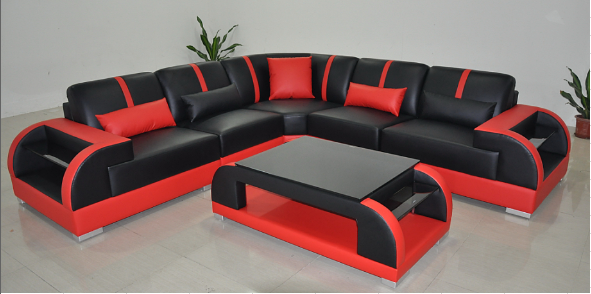 contemporary furniture. Unique Contemporary Black And Red Sectional Sofa To Contemporary Furniture